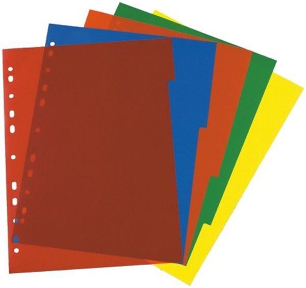 Register blanko A4 5-teilig Plastik PP-Folie Herlitz, mit Indexblatt