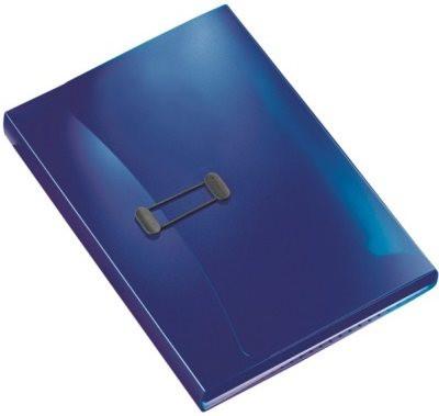 Projektmappe A4 dunkelblau transparent Esselte mit 6 Fächern