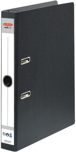 Hängeordner A4/5cm Hartpappe schwarz Herlitz maX.file mit Schlitzen