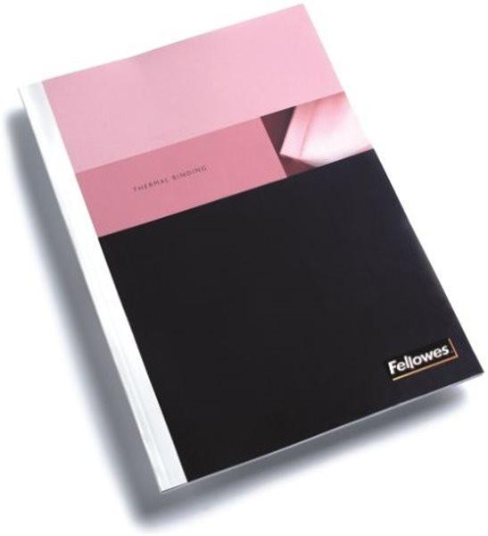 Thermomappe (8mm für 61 - 80 Blatt), matt, vorne transparent, hinten weiß