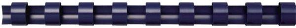 Plastik-Binderücken für 40 Blatt (8mm) blau Fellowes US-Teilung = 21 Ringe