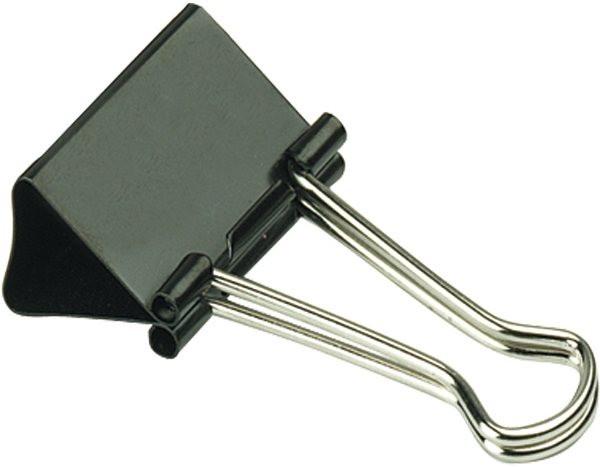 Foldback-Klammern, Breite 41mm, schwarz, Metall Alco
