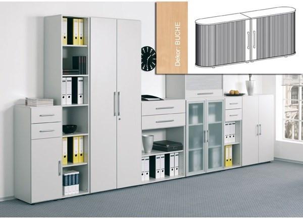 Sideboard Mailand, 2OH, Buche B2000xT400xH830mm