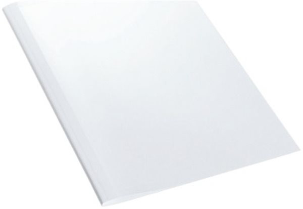 Thermomappe ( 8.0mm für 60 - 80 Blatt), vorne transparent und hinten weiß Leitz
